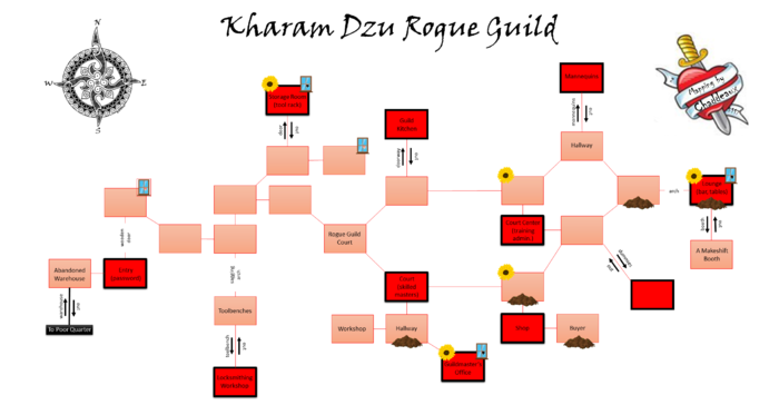 Kharam Dzu Rogue Guild Map